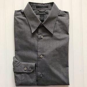EXPRESS Long Sleeve Dress Shirt!  FITTED -  M